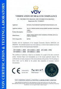 FHT-CE Certificate