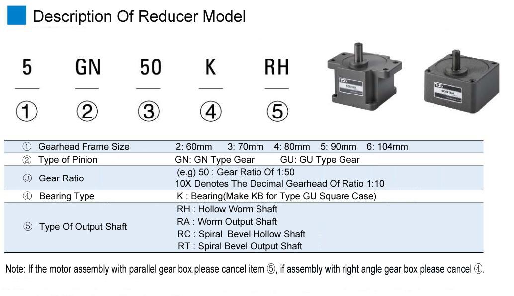 Motor de engranaje de freno Micro AC1